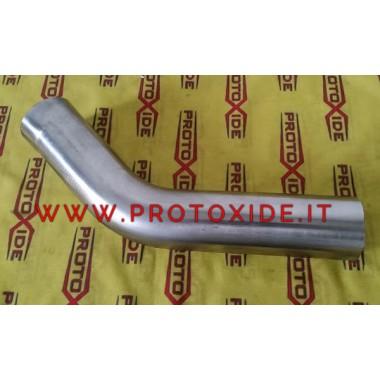 nerūsējošā tērauda līkums 45 ° ārējais diametrs 54mm 1.5mm bieza nerūsējošā tērauda līknes