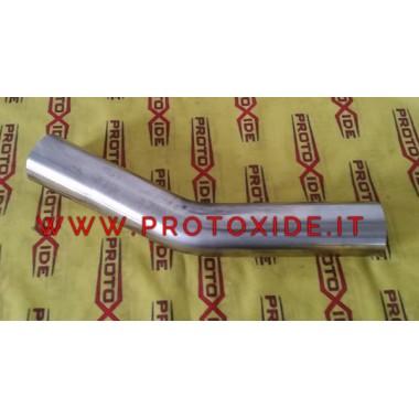 nerūsējošā tērauda līkums 30 ° ārējais diametrs 54mm 1.5mm bieza nerūsējošā tērauda līknes