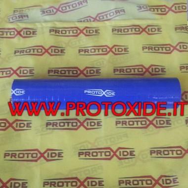 Düz silikon kol mavi tüp 102 mm Düz silikon hortum kolları