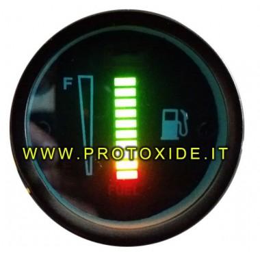 52 mm benzine- of brandstofmeter met digitale balk Benzinemeters en andere vloeistoffen