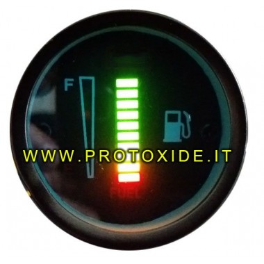 Indicador de nivel de gasolina o combustible de 52 mm con barra digital Niveles de combustible y otros líquidos