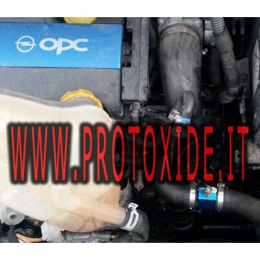 Compteur d'eau de température avec de la mémoire et de pointe installé sur Opel OPC Race. KIT COMPLET Mesures de température