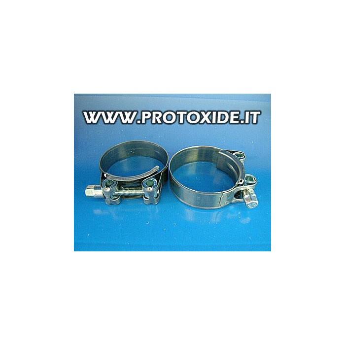 Fascette per alta pressione 60 mm con chiusura a dado pz.2 Fascette rinforzate per manicotti