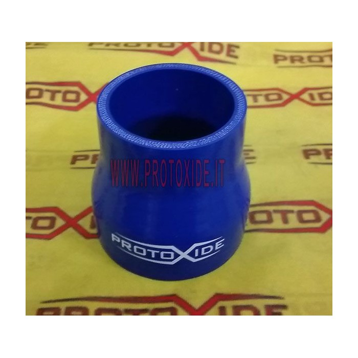 Tubo ridotto in silicone blu 76-60mm interno, 10cm