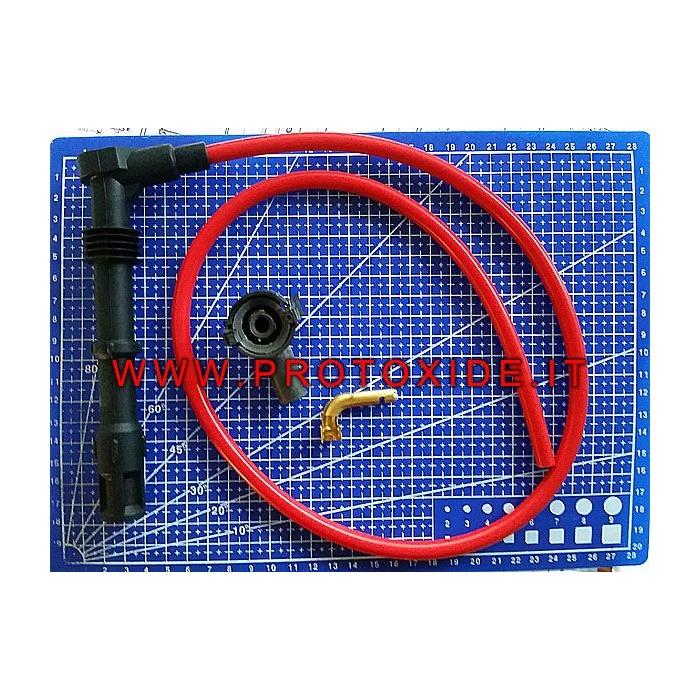 Kit de cable de bujía ProtoXide rojo de alto rendimiento hecho a medida Candle cable y bricolaje terminales