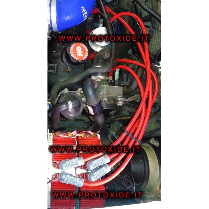 Cables de bujía Renault 5 GT de alta conductividad solo para motor de inyección para 4 bobinas Cables de vela específicos par...