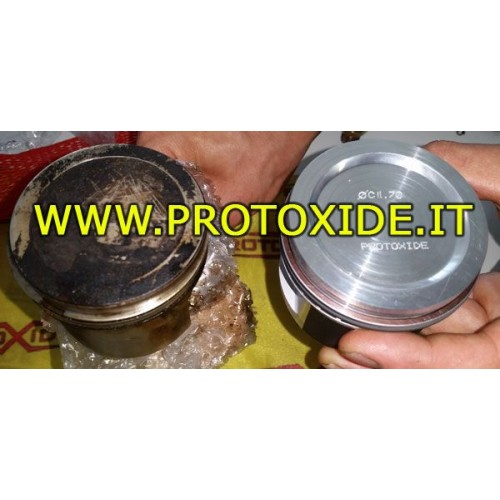 Unzipped molded pistons for engine conversion Turbo Fire 1,000 8V Forged Auto Pistons