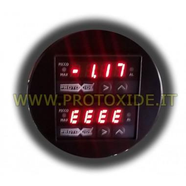 AirFuel 52 milímetros voltímetro e pressão do turbo em um único instrumento