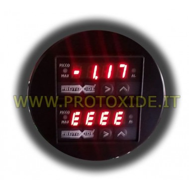 Measuring temperature with double round display 70mm