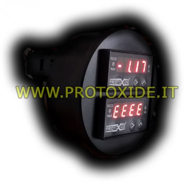 Indicador de temperatura con doble pantalla redonda de 70 mm Medidores de temperatura