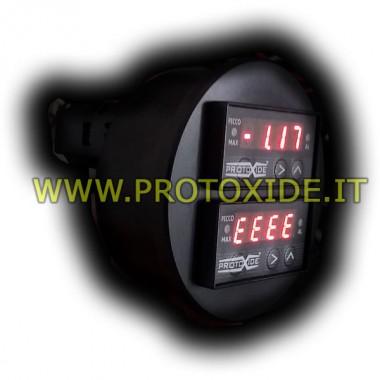 Måling temperatur med dobbelt runde display 70mm Temperaturmålere