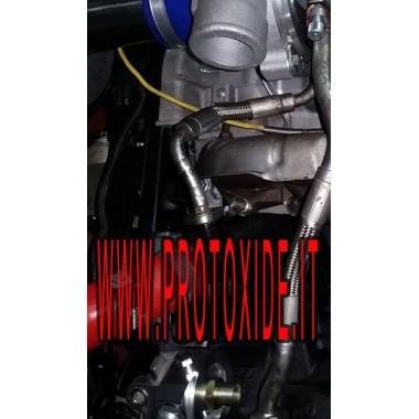 KIT COMPLETO DI ADATTATORE per installare radiatore olio specifico Fiat-Alfa-Lancia 1.4 Abarth t-jet