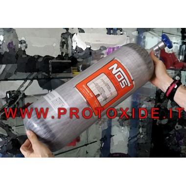 Cylinder NOS lattergas kulfiber USA 5,8 kg tom Cylindre til nitrogenoxid