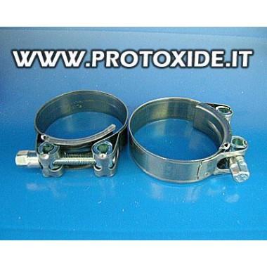 Abrazaderas de alta presión de 80 mm con cierre de tuerca, piezas 2 Bridas de cables reforzadas para mangas