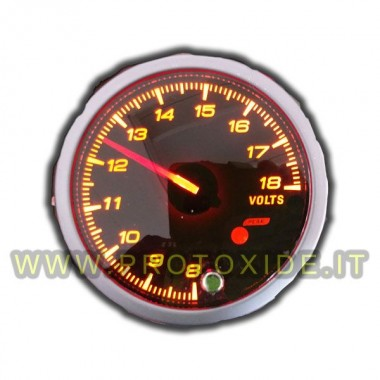 pointeur Voltmètre avec mémoire et 60mm d'alarme Voltmètres et ampèremètres