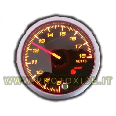 Voltmeter pointer med hukommelse og 60mm Alarm Voltmetre og amperemetre