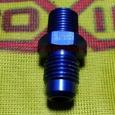 8AN nippel - 1/2 inch npt lige kobling Reservedele til nitrousoxidsystemer