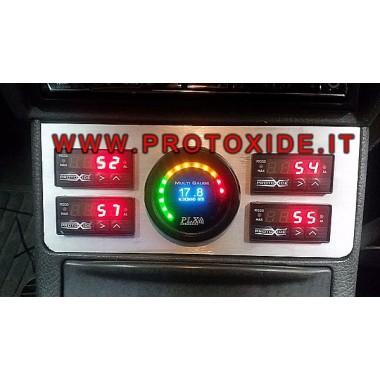 Aluminium støtte til instrument installeret på Fiat Punto Gt Instrumentholdere og rammer til instrumenter