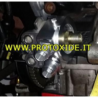Öljynjäähdytin Sovitin Fiat-Alfa-Lancia jtd 1.4-100HP Tukee öljynsuodatin ja öljynjäähdyttimen tarvikkeet