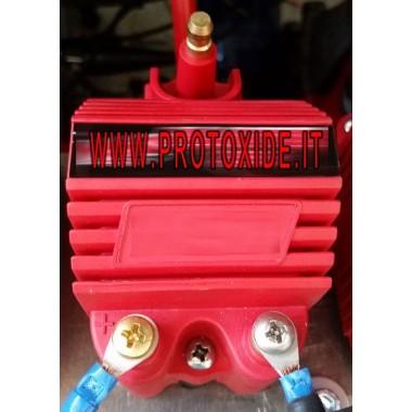 Bobina aprimorada vermelha com conexão macho Power-ups e bobinas impulsionadas
