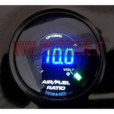 Airfuel stechiometrico e Voltmetro DigiLed 52mm misurare la carburazione afr Carburazione Airfuel Stechiometrico