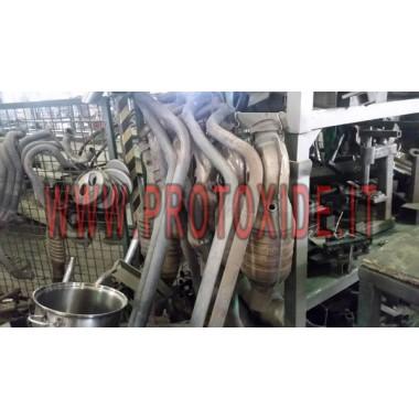 Tubos catalíticos solo tubos para acero inoxidable Ferrari 430 Catalizadores catalíticos y falsos