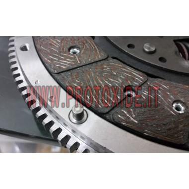 Single-masse svinghjul kit forstærket GrandePunto 120-130hk Stål svinghjul kit komplet med forstærket kobling