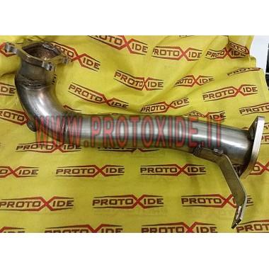 Downpipe scarico corto Grande Punto 500 Abarth 1.400 per Turbo TD04 Downpipe per motori turbo a benzina