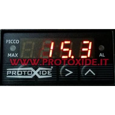 Digitalni pravokutni mjerač do 65 bara - Compact - s vrha memorije max Mjerači tlaka su Turbo, Petrol, Oil