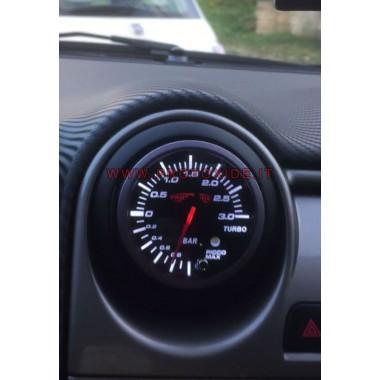 manòmetre de pressió de turbo instal·lat en el filtre Alfa Mite Manòmetres de pressió Turbo, gasolina, oli