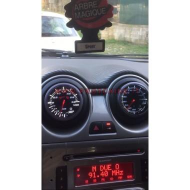 Turbo manómetro instalado en la boquilla Alfa Mito Manómetros Turbo, Gasolina, Aceite