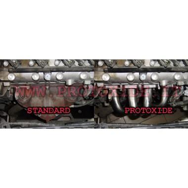 スチールエキゾーストマニホールドフィアットパンダ100hp 1.400 16v 4-2-1 アスピレーター用スチールマニホールド