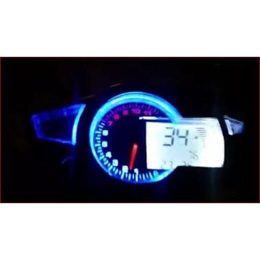 Dashboard for biler og motorcykler 11000 rpm for to fire-cylindrede motorer Digitale dashboards