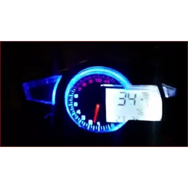 Dashboard for cars and motorcycles 11000 rpm for two four-cylinder engines