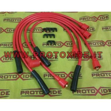 Cables de bujía de alta conductividad para Lancia Delta 1600-2000 8v Turbo 8.8mm rojo Cables de vela específicos para automóv...