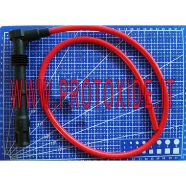 Kıvrımlı mum kablosu bitirmek için uzun Mum kablosu ve DIY terminalleri