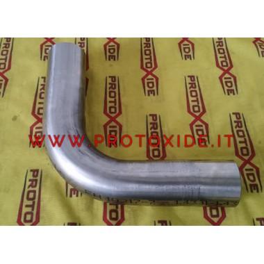 Kurve 90 ° rustfrit stål 40 mm diameter uden tykkelse 1,5 mm kurver rustfrit stål