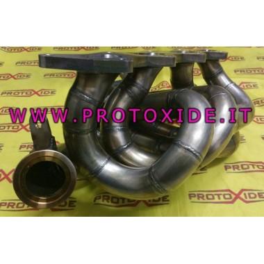 Stalen uitlaatspruitstuk met turbo Lancia Delta 2000 Turbo Borg Worner Stalen manifolds voor Turbo benzinemotoren