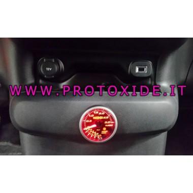 manomètre de pression de turbo installé sur la Fiat 500 Abarth
