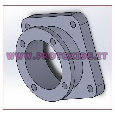 Brida d'adaptador per a un major cos d'aclariment en alumini Brides de distribució d'aspiració