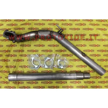 Exhaust downpipe for GT28 engines of 2,000 volkswagen audi tfsi without catalytic plus 76mm with central Downpipe for gasolin...