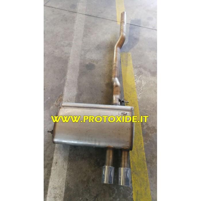 Scarico centrale e finale in acciaio inox Mini F56 2.000 con valvola scarico con telecomando