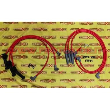 Červené vysoce vodivé kabely Alfaromeo GTV V6 Turbo s vysokou zapalovací svíčkou Specifické kabely svíček pro automobily