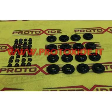Semiconi e piattelli ad un canalino in acciaio 8 pezzi