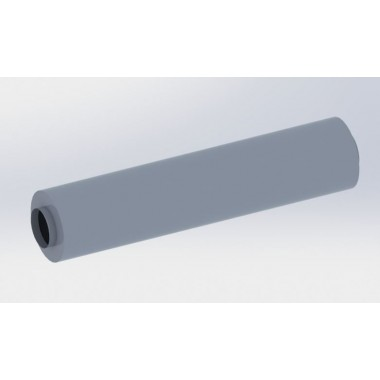 Universal middle silencer stainless steel