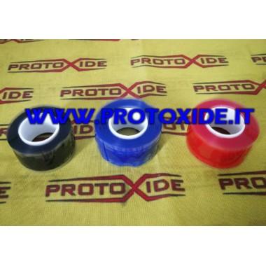 Nastro siliconico adesivo per cambio colorazione manicotti in silicone colore Nero Rosso Blu