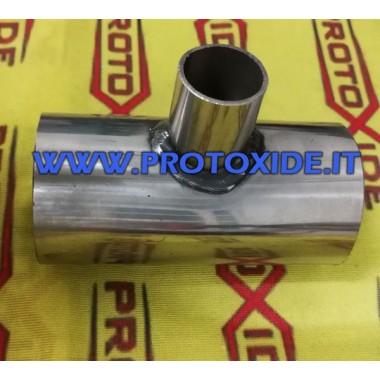 T-vormige roestvrijstalen huls, diameter 50 mm T-sleeves in silicone of roestvrij staal