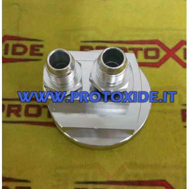 Base del adaptador para tomar tubos de aceite en el bloque portafiltros Soporta filtro de aceite y accesorios enfriador de ac...