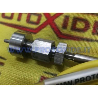Raccordo boccola inox per nipple termocoppia 1/8 npt Senzori, termocupluri, sonde Lambda