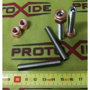 Pagarinātas kniedes 8 mm x 1,25 ieplūdes kolektoriem un 5-daļīgām turbīnām Rieksti, ieslodzītie un speciālās skrūves